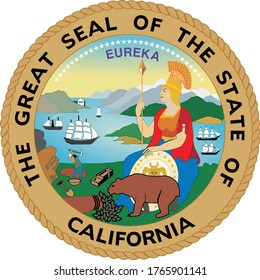Great Seal of US Federal State of California (The Golden State)