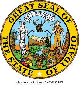 Great Seal of US Federal State of Idaho (The Gem State)