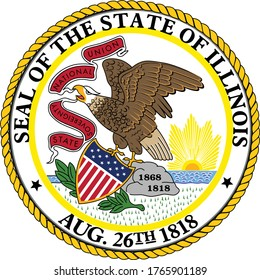 Great Seal of US Federal State of Illinois (Land of Lincoln)