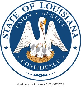 Great Seal of US Federal State of Louisiana (Bayou State)
