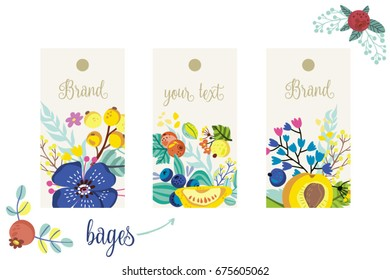 Great set of flowers and labels.
