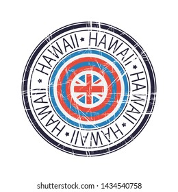 Great state of Hawaii postal rubber stamp, vector object over white background