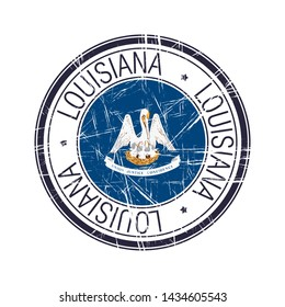 Great state of Louisiana postal rubber stamp, vector object over white background