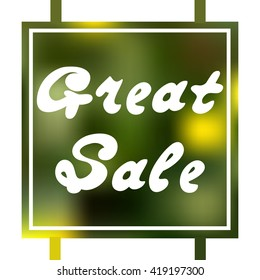Great summer sale banner. It can be used for flyers, cards, invitations, and for information on discounts and sales.