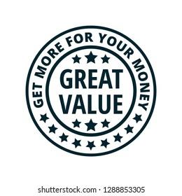 Great Value label illustration