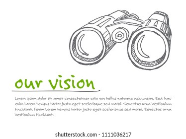 Great Vision - minimalist concept vector ilustration template