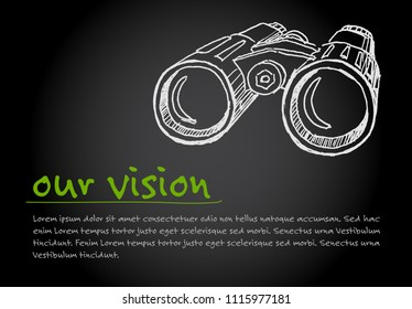 Great Vision - minimalist concept vector ilustration template - dark version