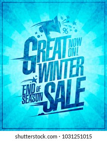 Great winter sale vector poster