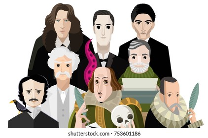 great writers faces