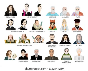 great writers portraits
