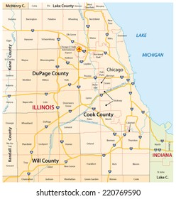 greater chicago map