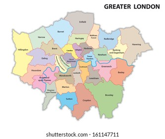 greater london administrative map