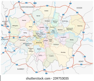 London And Greater London Map.Greater London Map Images Stock Photos Vectors Shutterstock