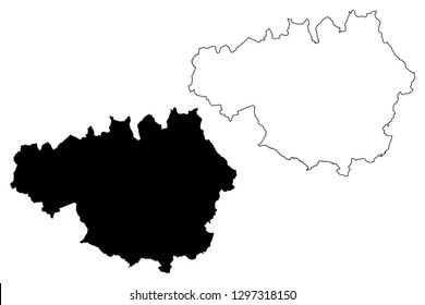 Greater Manchester (United Kingdom, England, Metropolitan county) map vector illustration, scribble sketch Greater Manchester map