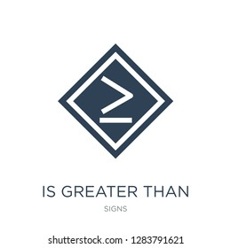 is greater than or equal to icon vector on white background, is greater than or equal to trendy filled icons from Signs collection, is greater than or equal to vector illustration