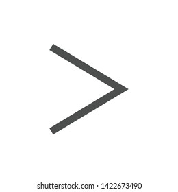 Greater than icon. Math symbol modern simple vector icon