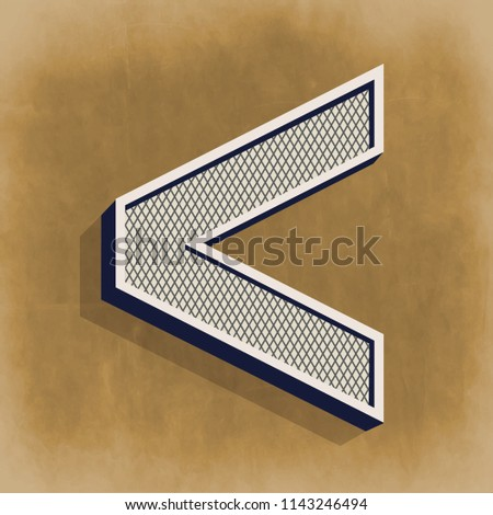 Greater Than Math Symbol Vector Illustration Stock Vector Royalty