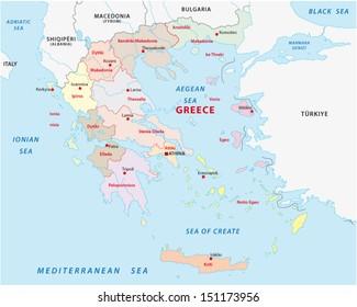 greece administrative map