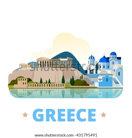 Greece country design template