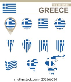 Greece Flag Collection, 12 versions