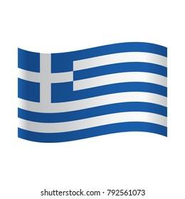 Greece Flag Icon, Isolated Greek flag, Vector illustration.
