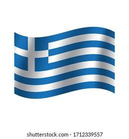 Greece flag. Nation vector Greece flag