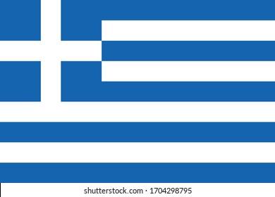 Greece flag national vector Greek nation
