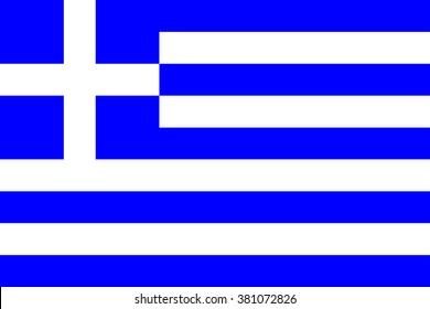 Greece flag , official colors and proportion , accurate vector illustration