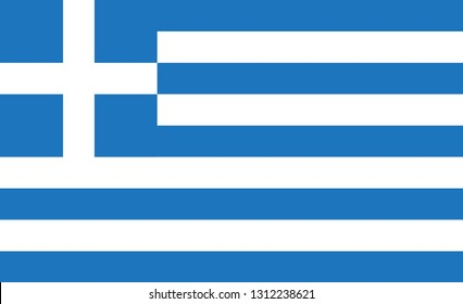 Greece flag. Simple vector Greece  flag