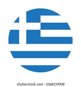 Greece flag. Vector