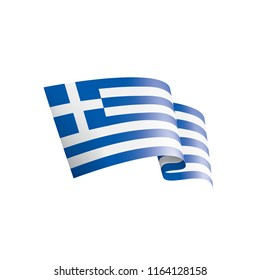 Greece flag, vector illustration on a white background.
