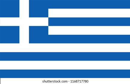 Greece Flag, Vector image and icon