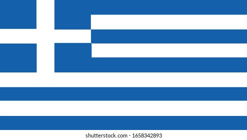 Greece Flag Vector - Official Greece Flag With Original Color and Size Proportion