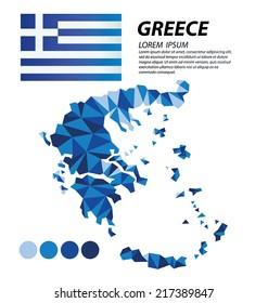 Greece geometric concept design