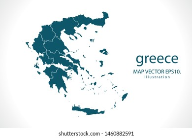 greece map High Detailed on white background. Abstract design vector illustration eps 10