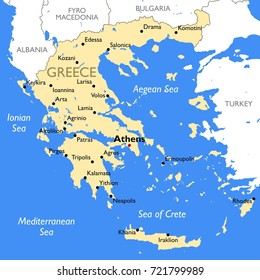 Greece Map Images, Stock Photos & Vectors | Shutterstock