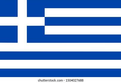 greece original flag on background