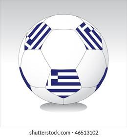 Greece soccer ball vector
