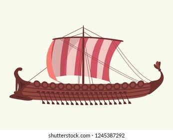 Greece war ship. Galley