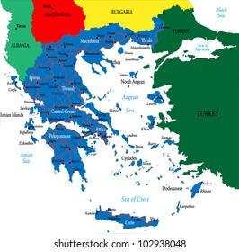 Greece-political map