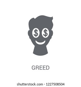 Greed icon. Trendy Greed logo concept on white background from Cryptocurrency economy and finance collection. Suitable for use on web apps, mobile apps and print media.