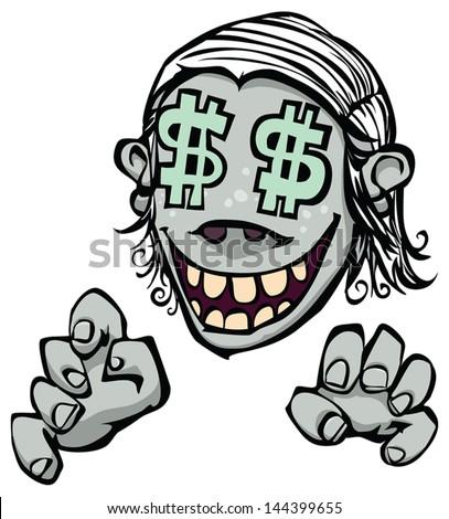 greed vector drawing greedy man stock vector royalty free