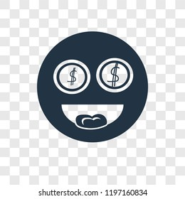 Greed vector icon isolated on transparent background, Greed transparency logo concept