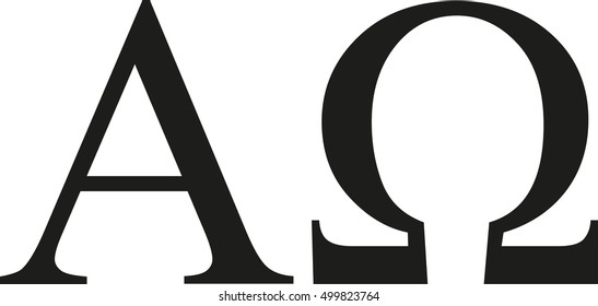 Greek alpha and omega sign