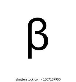 Greek alphabet : Beta vector icon