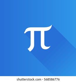 Greek alphabet icon in Metro user interface color style. Mathematics number