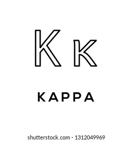 Greek alphabet : Kappa vector icon logo template