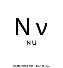 Greek alphabet : nu icon vector