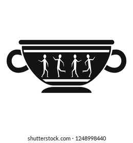 Greek ancient bowl icon. Simple illustration of greek ancient bowl vector icon for web design isolated on white background