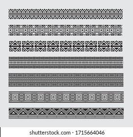 Greek border designs in vector